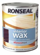 Ronseal Interior Wax Matt 750ml - Walnut